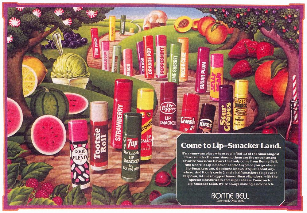 Vintage Lip Smacker Ad