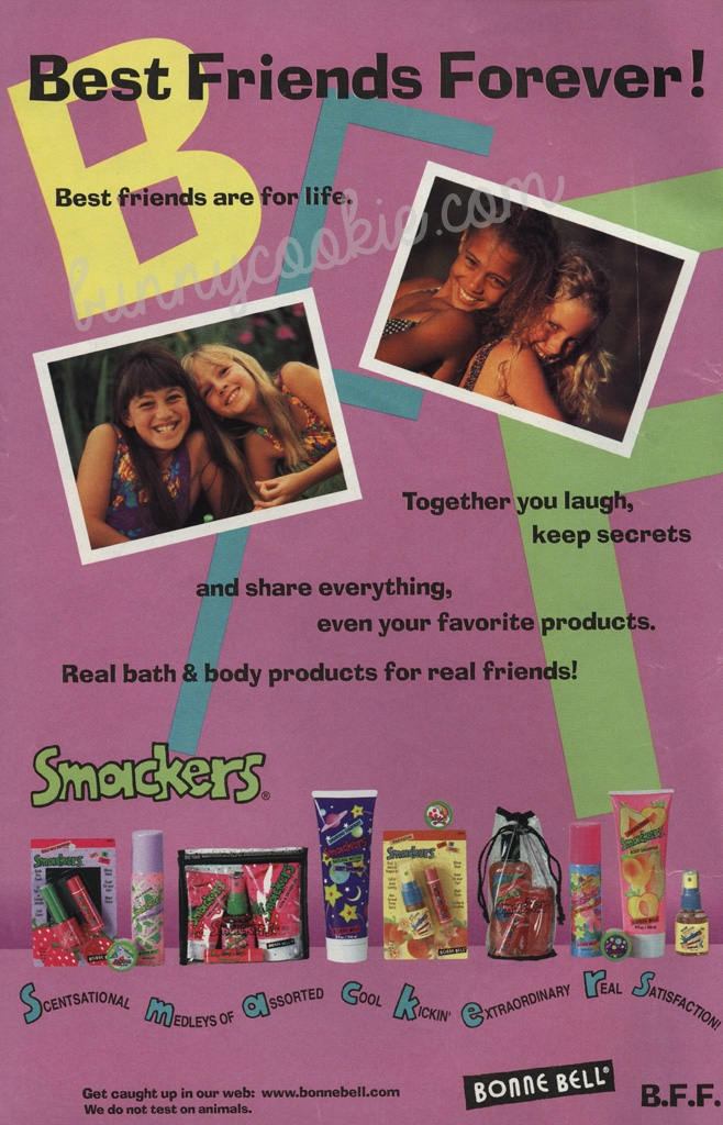 My favorite! Look at that cute packaging. Very late 1996 - early 1997.
